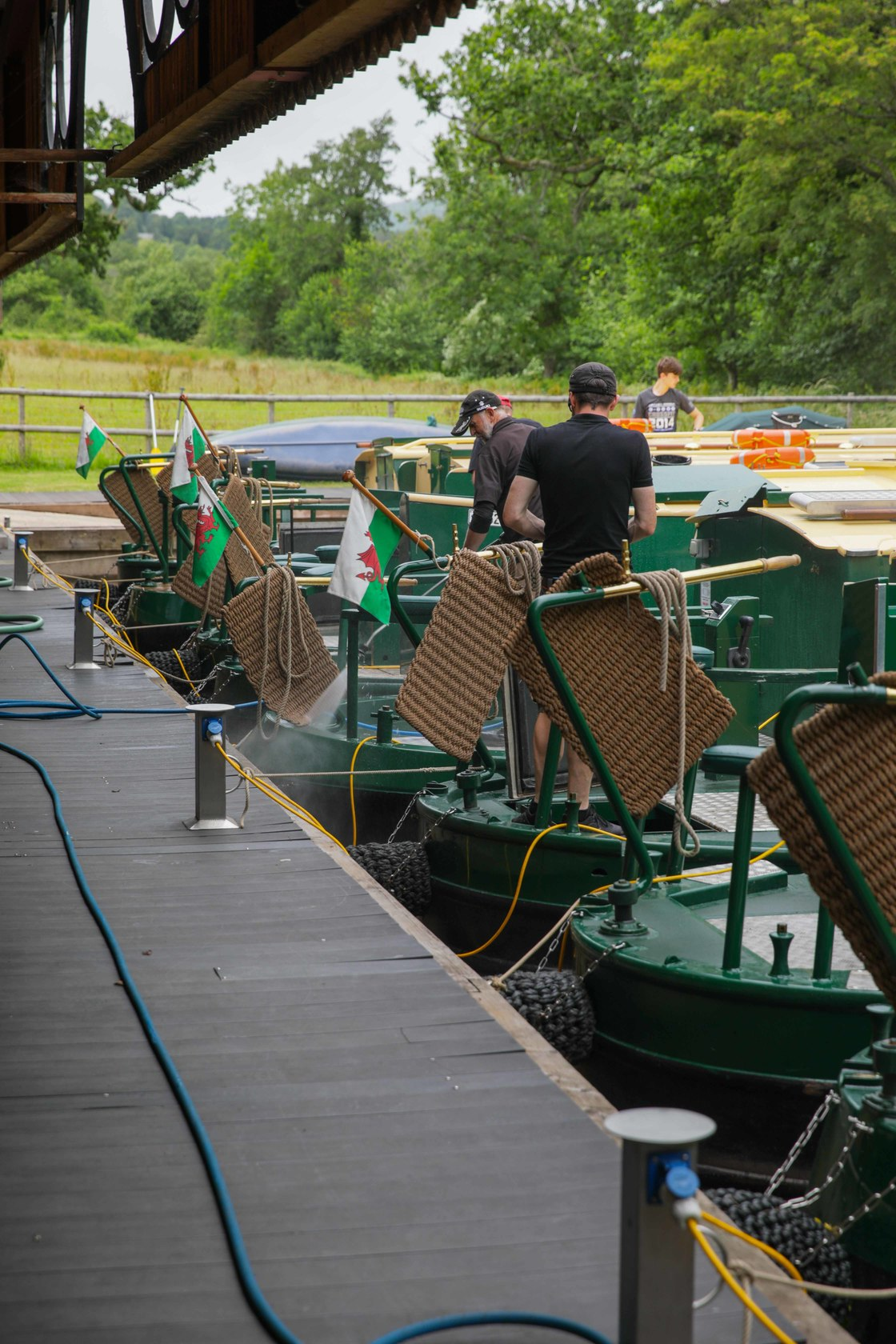 Every boat is jetwashed and the brasses polished